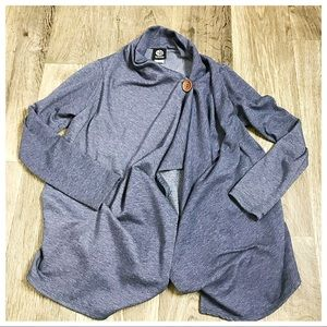 Bobeau Heather Blue Cardigan Sweater X-Small